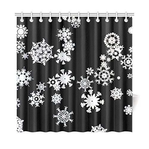 WJJSXKA Home Decor Bath Curtain Ball Greeting Decoration Merry Christmas Polyester Fabric Waterproof Shower Curtain For Bathroom, 72 X 72 Inch Shower Curtains Hooks Included -
