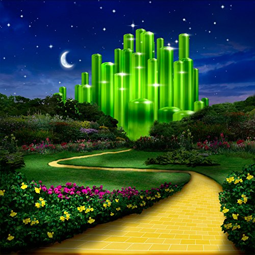 Wizard Oz Munchkin Pictures (Photo Background - Emerald City Approach - Seamless Fabric background … (10 x 10))