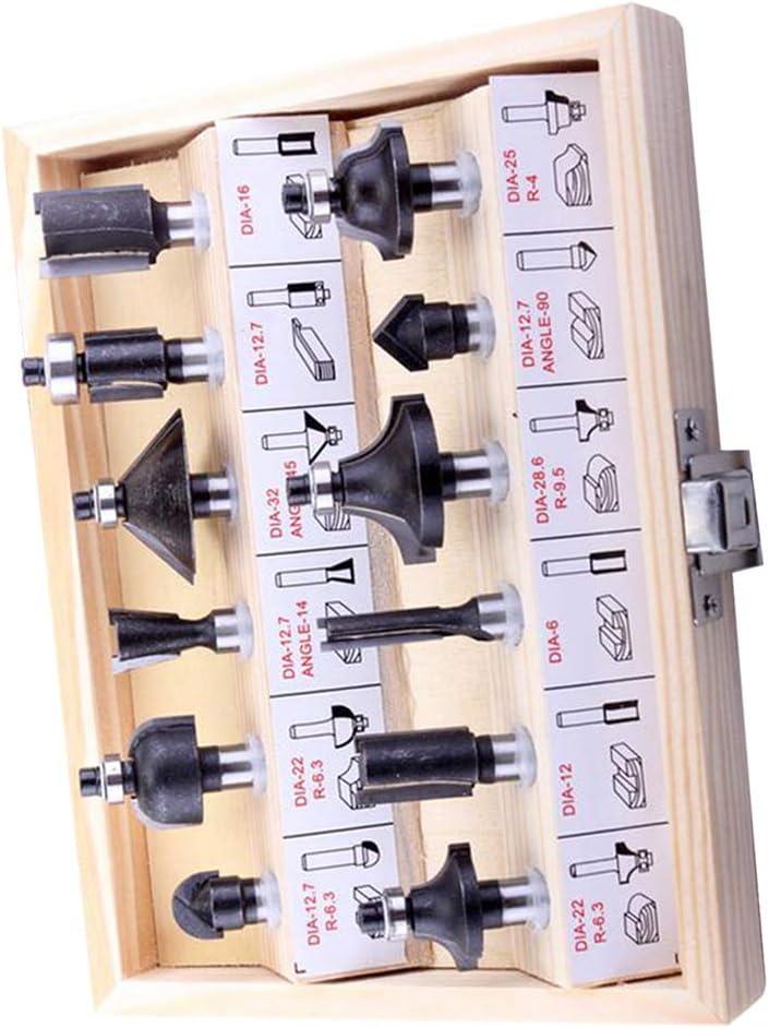 12pcs 8mm Schaft Fr/äsen Set Hartmetall Fr/äser Holzbearbeitungswerkzeuge