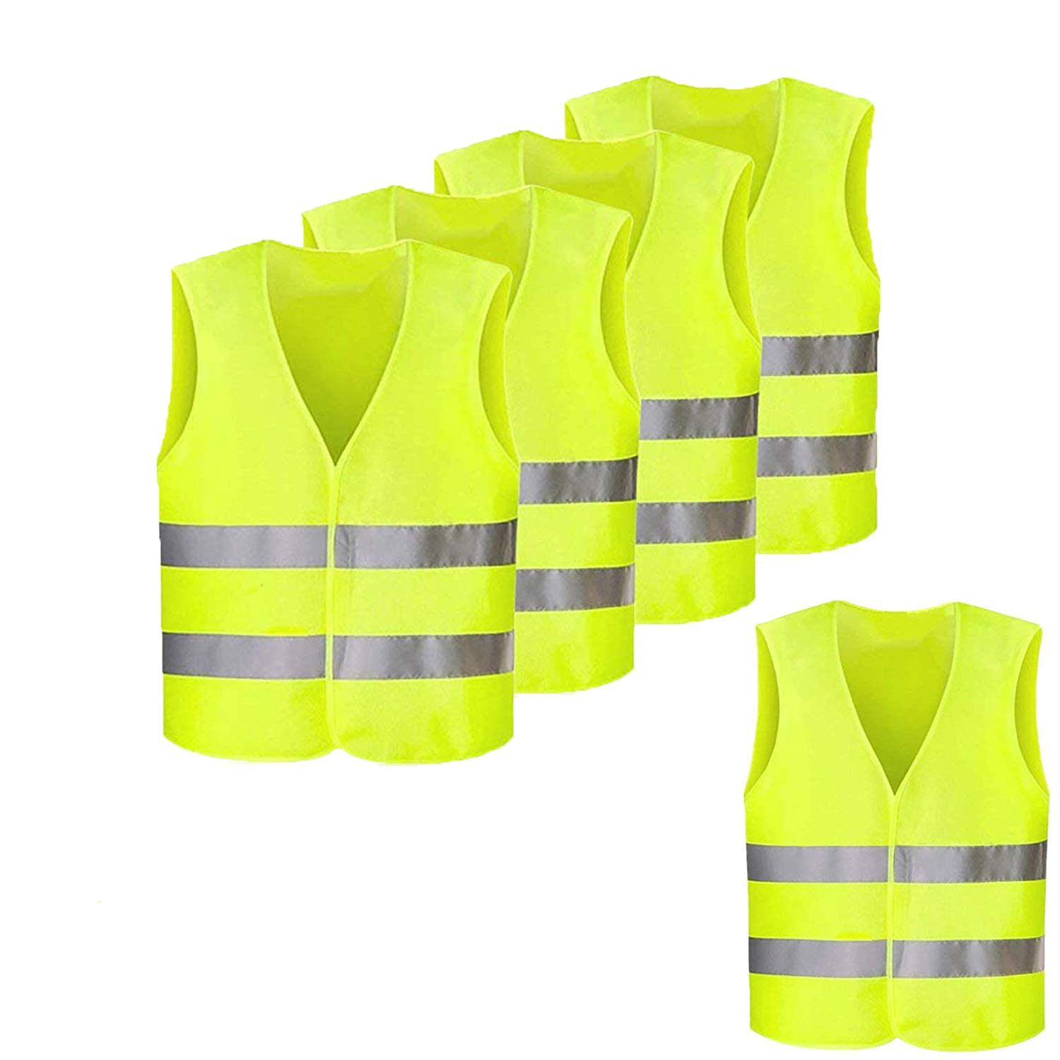 Yellow High Visibility Waistcoat Medium 12 PACK