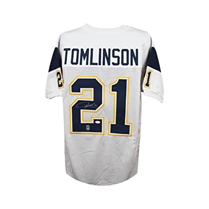 21d868a9 LaDainian Tomlinson Autographed San Diego Chargers Custom White ...