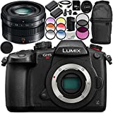 Panasonic Lumix DC-GH5S Mirrorless Digital Camera with Leica DG Summilux 15mm f/1.7 ASPH. Lens 14PC Accessory Bundle – Includes 64GB SD Memory Card + MORE - International Version (No Warranty)