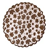 DII 40'' Round Lace Table topper, Maple Leaf Brown - Perfect for Fall, Thanksgiving, Catering Events, Dinner Parties, Special Occasions or Seasonal Décor