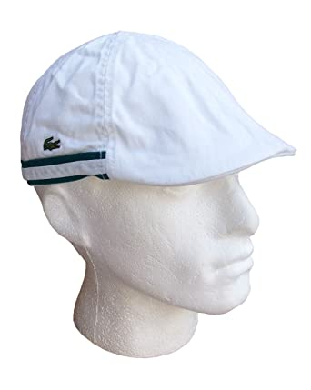 Lacoste Golf Flat Cap Cotton White RK1904 Mens (Large)  Amazon.co.uk ... 34855621ccf