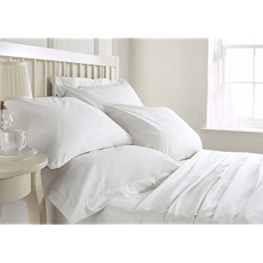 Bluemoon Homes Luxurious 1000 Thread Count Italian Finish 100% Egyptian Cotton 4-Piece Bed Sheet Set, Fits Mattress Up to 21 inches Deep Pocket, Solid Pattern (Color - White, Size - Full).
