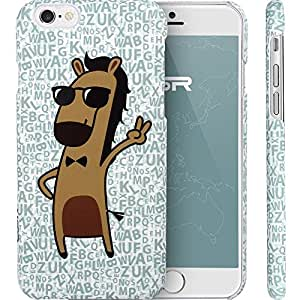 DAOJIE Generic Phone 6 Case, llustration Case, ESR Illustrators Series Protective Case [Scratch-Resistant] [Perfect Fit] [Anti-Slip] [Good Grip] Hard Back Cover with Exquisite Print for 5.5 inches iPhone 6 plus(Cartoon Horse Mr. Big Shot)