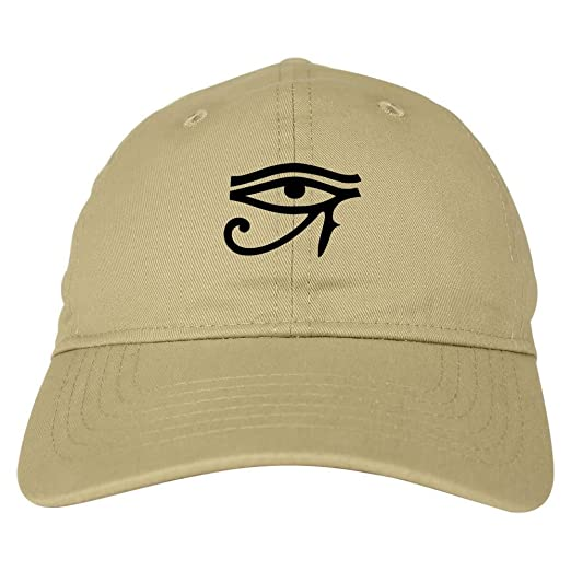 19fd6f72de9 Kings Of NY Eye of Horus Egyptian 6 Panel Dad Hat Cap Beige at ...