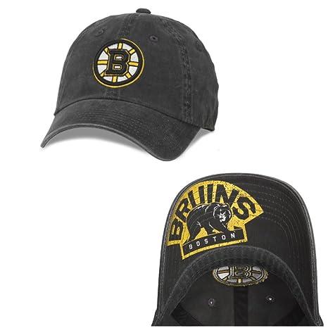 74962e97 American Needle New Raglan NHL Team Adjustable Hat, Boston Bruins, Black  (36672A-