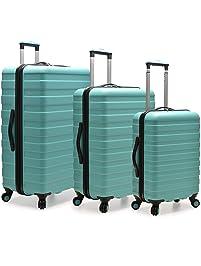bb967461a8f7 Traveler's Choice U.S. Traveler Cypress Colorful 3-Piece Hardside Spinner Luggage  Set