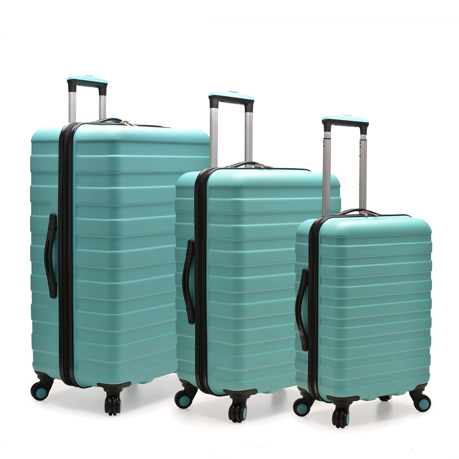 Traveler Cypress Colorful 3-Piece Hardside Spinner Luggage Set Travelers Choice U.S
