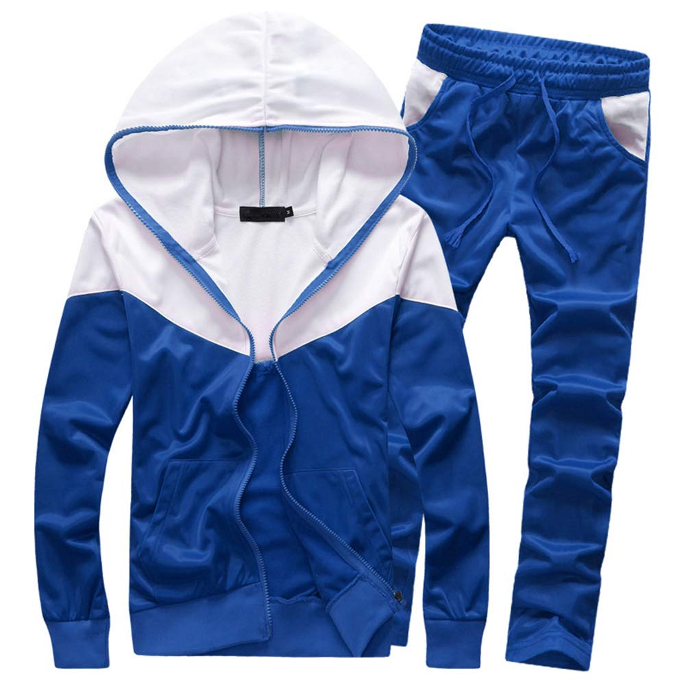 MACHLAB Men's Tracksuit 2 Piece Jacket & Pants Warm Jogging Athletic Suit Casual Full Zip Sweatsuit Gym Activewear Navy XL by MACHLAB