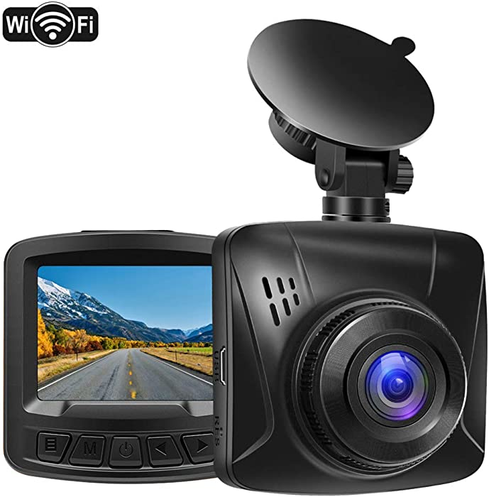 Pathinglek Dash Cam 1080P Full HD WiFi Dash Camera for Cars Mini Dashboard Camera 2 inches LCD, Night Vision, G-Sensor, 170°Wide Angle, Motion Detection