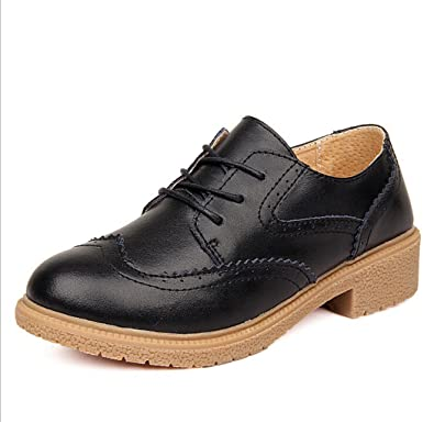 Britain Retro Women Nude Shoes Oxford Style Heavy-bottomed Casual Leather Platform Shoes EU34-41