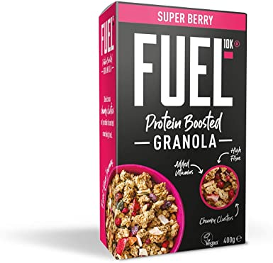 Muesli crujiente con aporte adicional de proteínas FUEL10K con frutas, 6 x 400 g