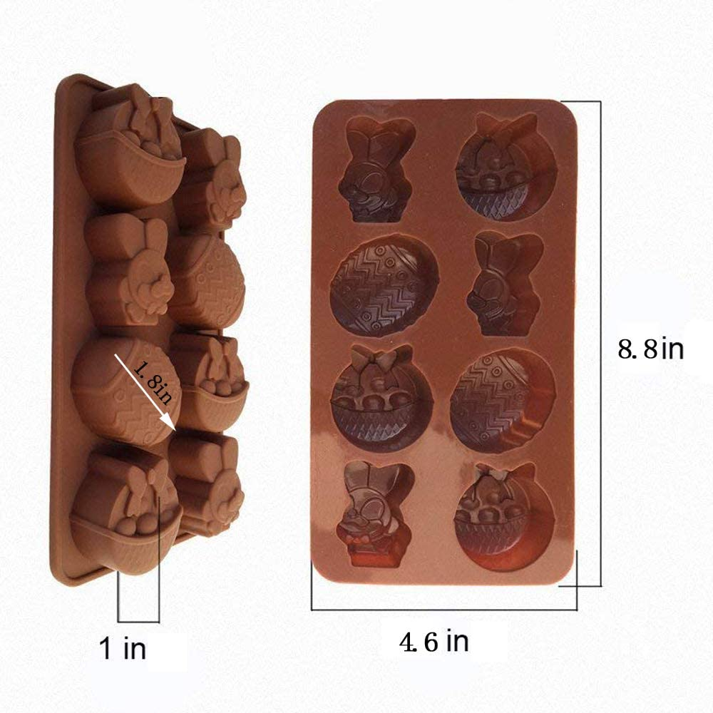 Style 01 Includes Egg Rabbit Cake 1Pack Afocuz Easter Silicone Molds for Candy Flower Barsket for Party Chocolate and Ice Cube Easter Egg and Bunny Mold