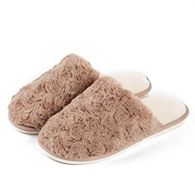 73afd13f2a1 Womens scuff slippers indoor winter plush slipper memory foam cute home  shoes clothing jpg 385x385 Home