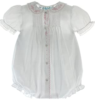 9ec389036 Amazon.com: Feltman Brother's Baby Girl's White Pintucks & Lace ...