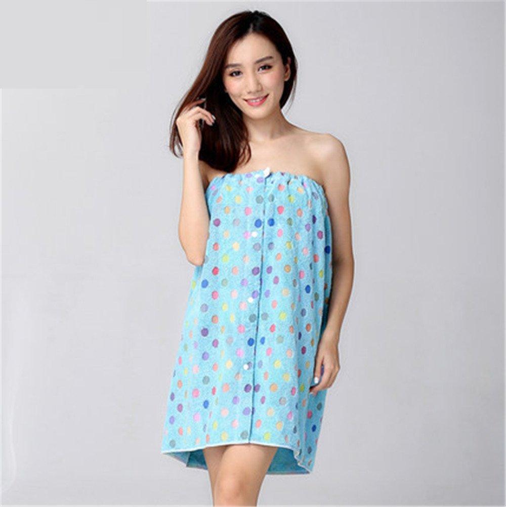 MIWANG Simple y elegante dot toallas de baño de algodón pueden llevar faldas femeninas paño suave y absorbente, toalla código E: Amazon.es: Hogar