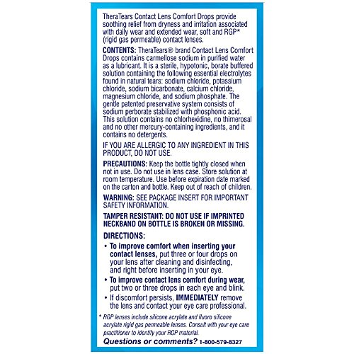 TheraTears Contact Lens Comfort Drops 0.50 oz (Pack of 2)
