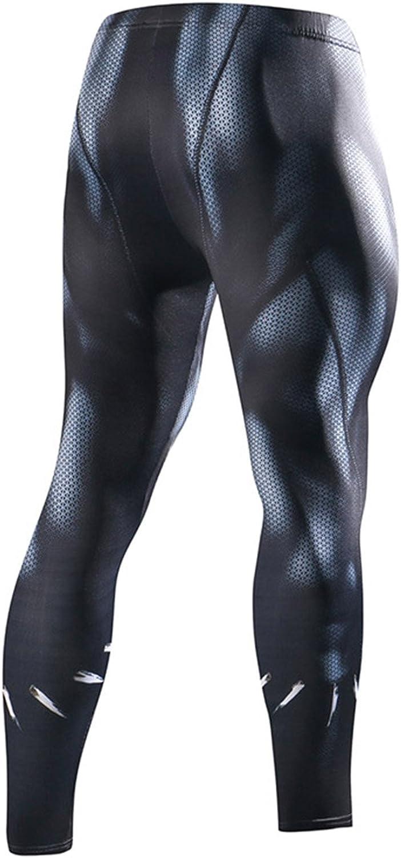 Pro Baselayer Superhelden-Strumpfhose Spider Superman Thermo-Workout Fringoo/® Herren Kompressions-Leggings Fitnessstudio Lange Laufen