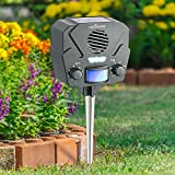 Ultrasonic Solar Repeller & Pest Repeller – With 1 Speaker & 30' Motion Sensor –...