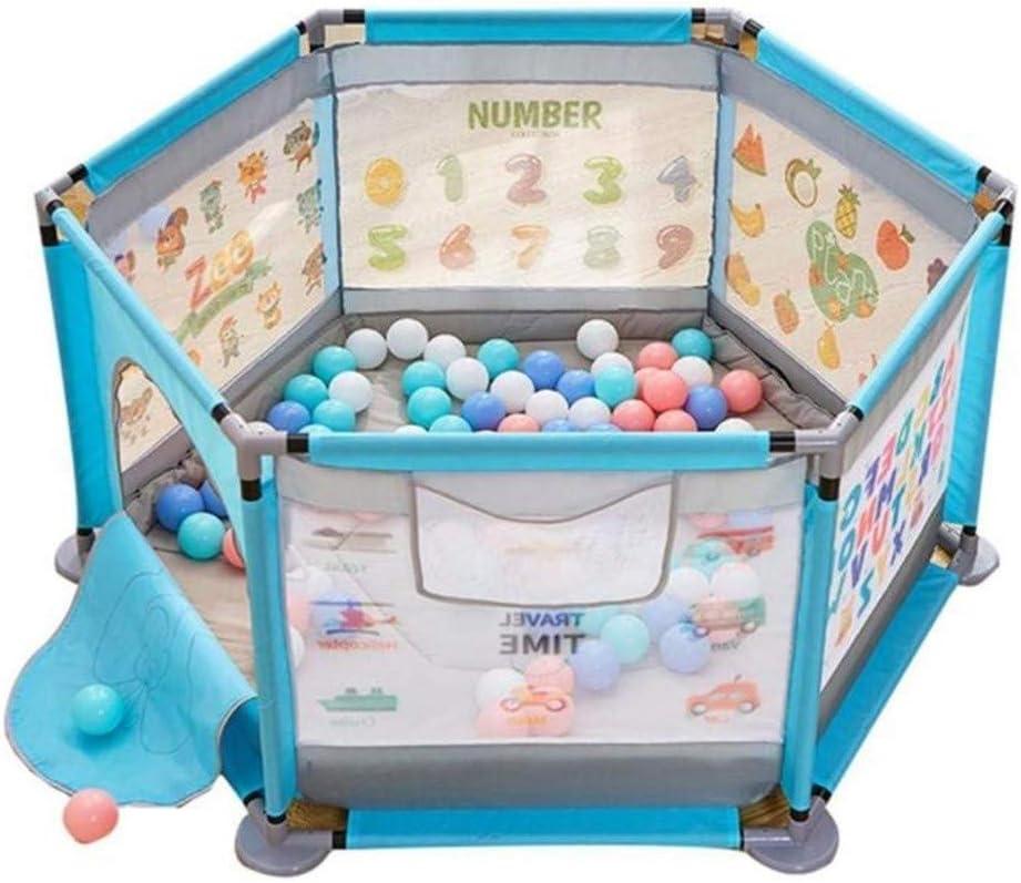 子供のベビーサークル、屋内ホームベビードロップ耐性フェンス幼児の安全クロールマットベビー防護フェンス、ボール+マットを送ります
