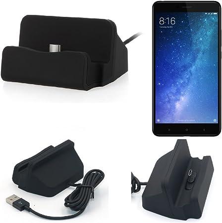 K-S-Trade Dock USB para El Xiaomi Mi MAX 3, Negro | Estación De ...