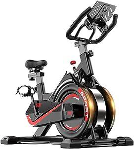 Bicicleta De Spinning, Bicicleta De Ciclismo Indoor, No Hay Ruido, Ajuste De La Velocidad De Transmisión Por Correa En Espiral LCD Pantalla Reloj Electrónico, El Hogar Aeróbicos Entrenamiento Físico: Amazon.es: Deportes y