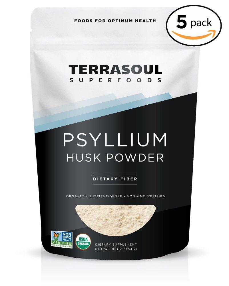 Terrasoul Superfoods Organic Psyllium Husk Powder, 5 Pounds
