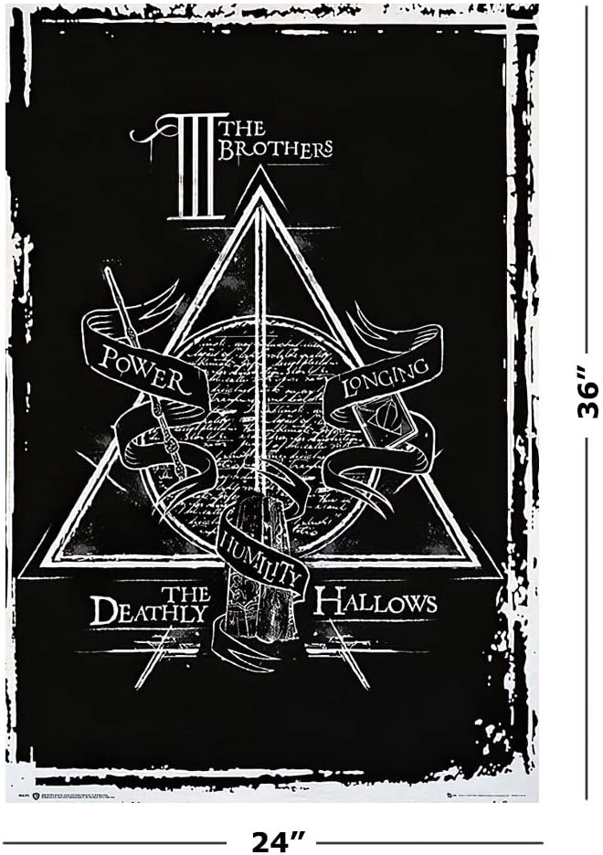 Amazon Com Harry Potter And The Deathly Hallows Movie Poster Print The Deathly Hallows Symbol Size 24 Inches X 36 Inches Posters Prints