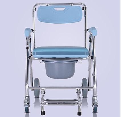 Alrededor de sillas de ruedas asiento de inodoro para los ancianos mover aluminio baño el inodoro