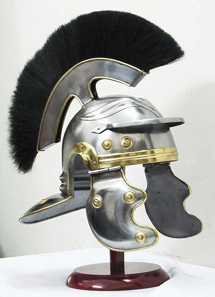 Shiv sakti Enterprise centurión romano Medieval Armor casco número de casa Knight Jean fuentes casco de