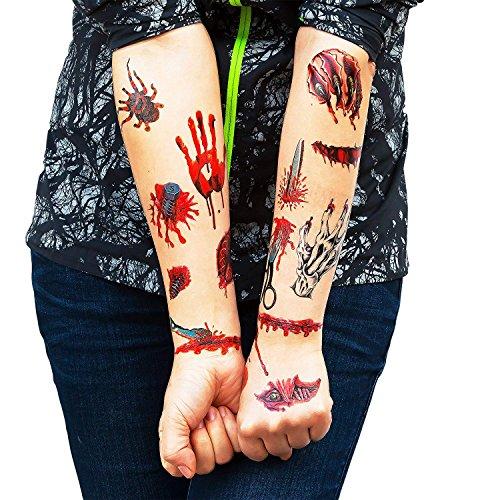 SZSMART Tatuajes Halloween Tatuajes Festivales Disfraces de ...