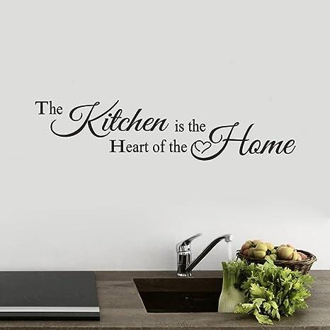 Scritte Adesive Muro.Topgrowth Adesivo Muro Scritte Adesive Per Pareti La Cucina Home Decor Vinile Arte Murale Wall Sticker