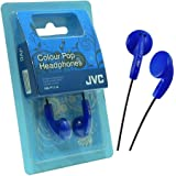 JVC Colour Pop HA-F11-A - Auriculares in-ear (cable de 1 m, jack de 3.5 mm), color azul