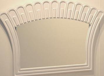 Art Deco Spiegel : Spiegel wandspiegel cm weiß lackiert shabby art deco