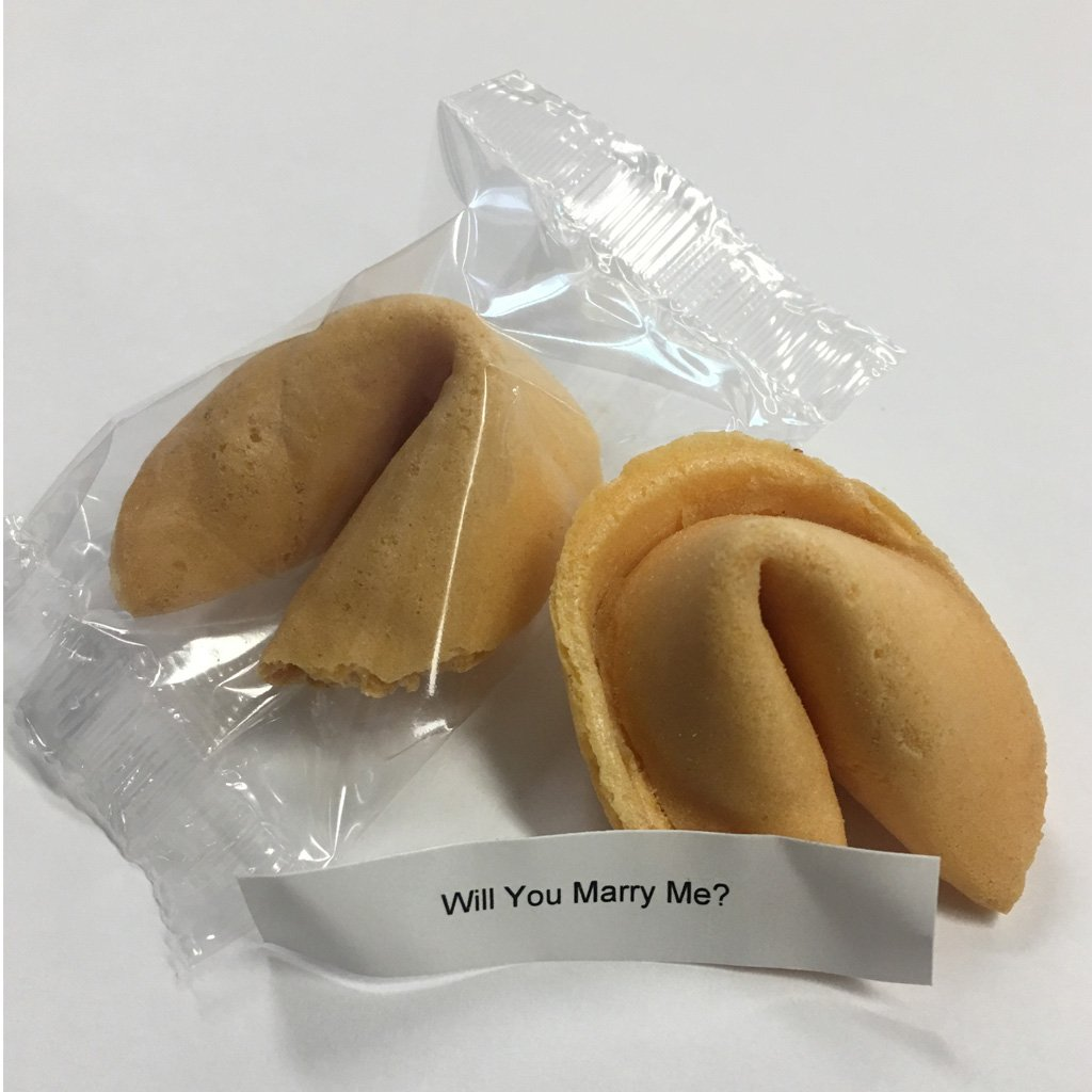 Will You Marry Me? - Fortune Cookie W/Message Inside