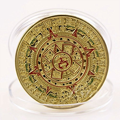 Buildent(TM) Art Collection Gift Gold Plated Mayan Aztec Prophecy Calendar Commemorative Coin A45363 (Novelty Commemorative)