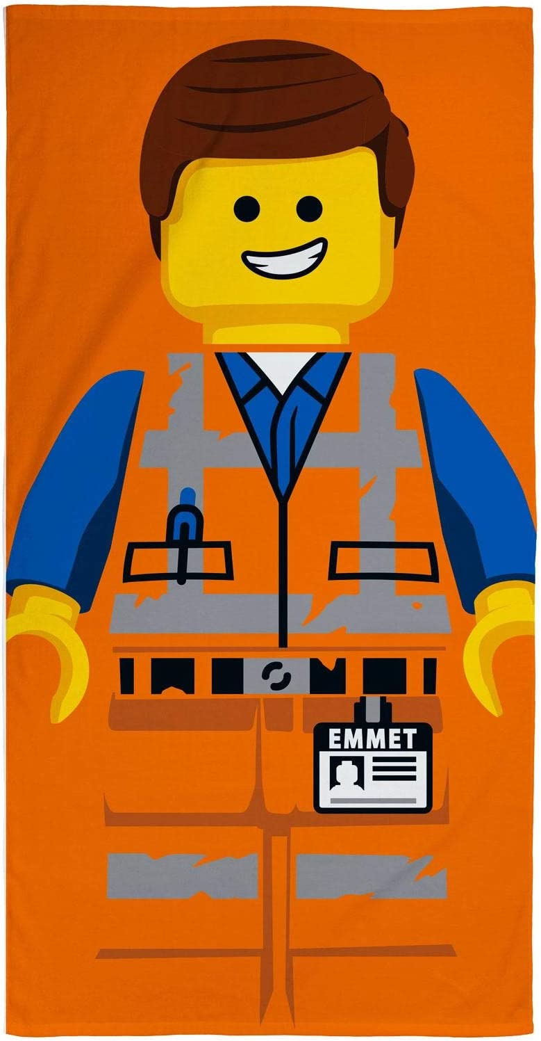 Multicolor LEGO Movie 2 Emmet Design hogar 140 x 70 cm Playa y Piscina