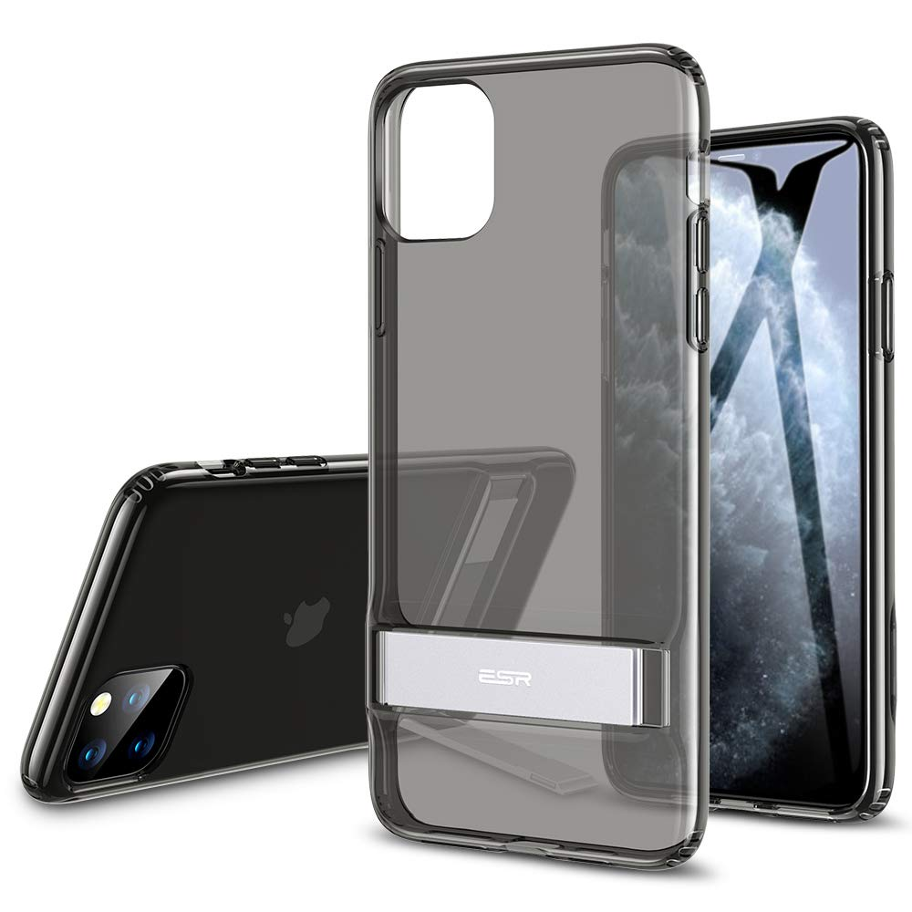 2019 Release Clear Vertical and Horizontal Stand Reinforced Drop Protection ESR Metal Kickstand Designed for iPhone 11 Pro Case, Flexible TPU Soft Back for iPhone 11 Pro