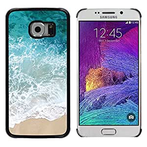 LECELL--Funda protectora / Cubierta / Piel For Samsung Galaxy S6 EDGE SM-G925 -- Sun Summer Sand Happy Nature --