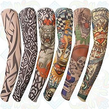 Gospire Mangas de nailon suave que imitan tatuajes para los brazos ...