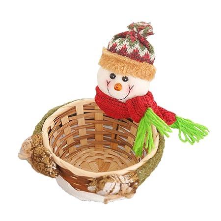 Amosfun cesta de mesa de dulces navideños dulces merienda ...