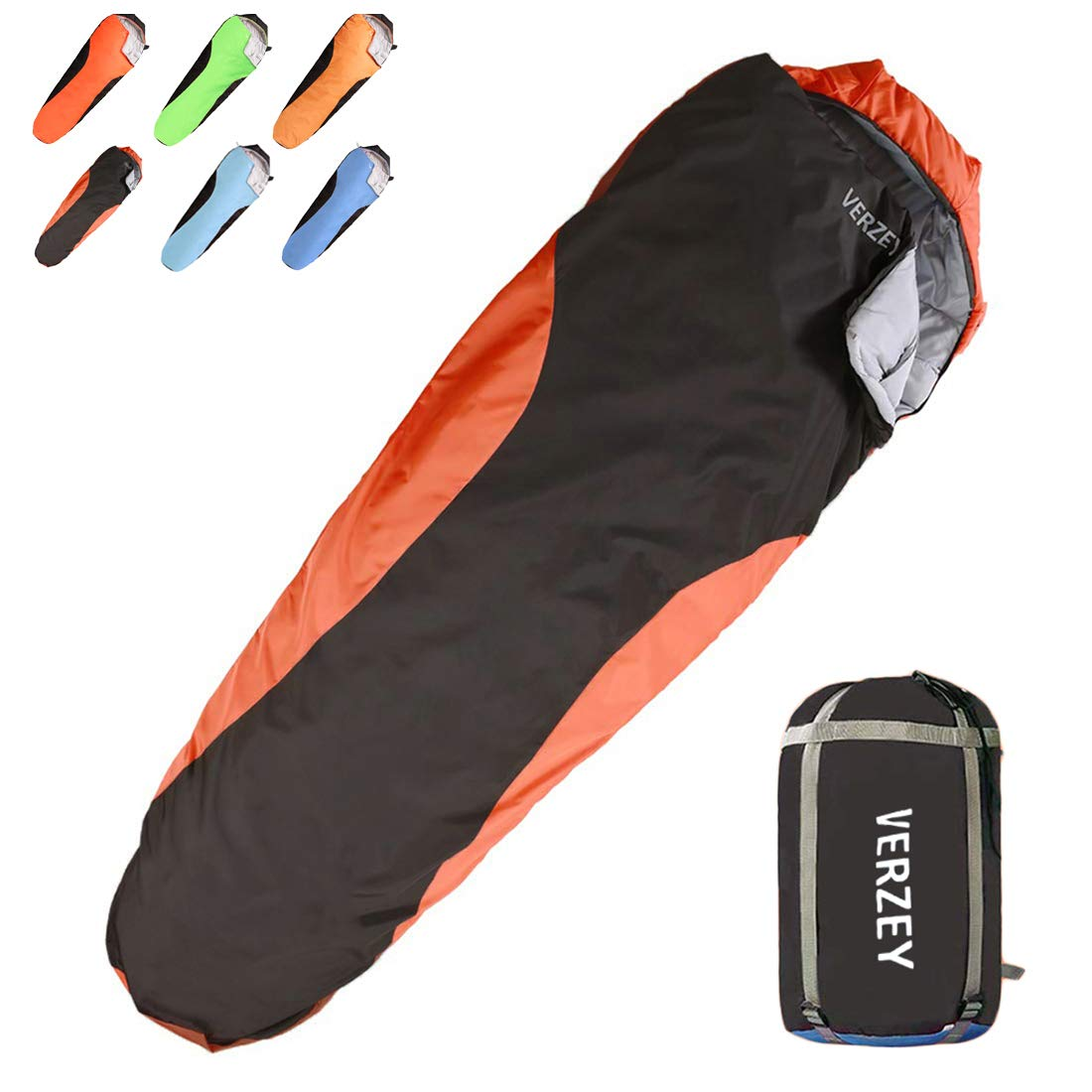 VERZEY Mummy Camping Sleeping Bag for Adults, Youth,Kids & Boys, Great for 3-4 Season,Portable for Traveling Hiking Waterproof Lightweight Outdoor Sleeping Bags by VERZEY