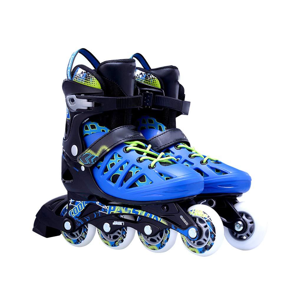 ユニセックス レース ローラーシューズ、 十代の若者たち まっすぐな列 ローラースケート スケート靴、 調整可能 大学生 初心者 ローラースケート B L