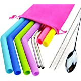 Silicone Straws For 30 oz Tumblers,Yeti / Rtic Reusable and Extra Long Silicone Straws