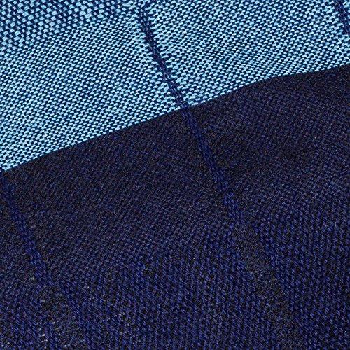 NOVICA Blue 100% Peruvian Alpaca Wool Shawl, 'Huancayo Blues'