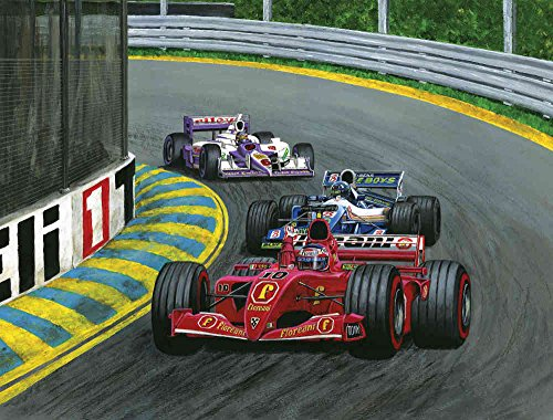 7.5-Feet wide by 6-Feet high. Prepasted robust wallpaper mural from a photo of: Grand Prix an original creation of Tony Floreani. Our murals are easy to install remove and reuse. See our video.