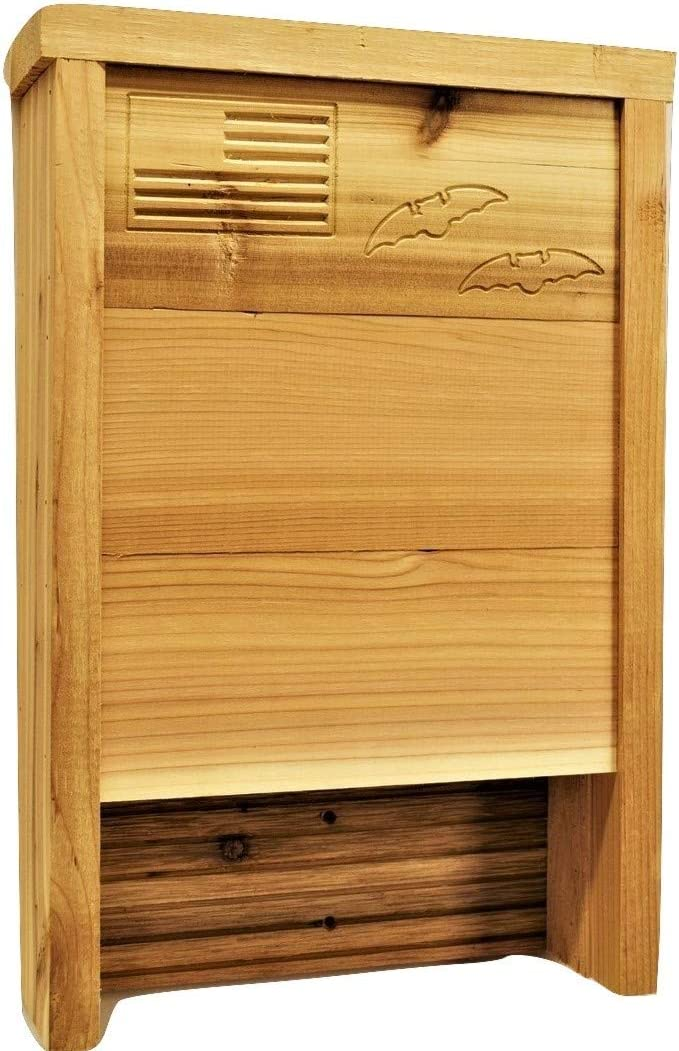 Premium Bat House | Made in USA | Western Red Cedar | Ready to install | Ideal Bat Shelter for extremely hot to warm climates | Environmentally Responsible Eco-Friendly Mosquito Control | Cedar