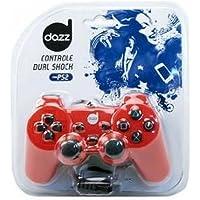Controle Dual Shock PS2 Vermelho 621542 - Dazz